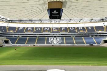 31.07.2014, Fussball, 1. BL, Verlegung neuer Rasen in der Commerzbank-Arena