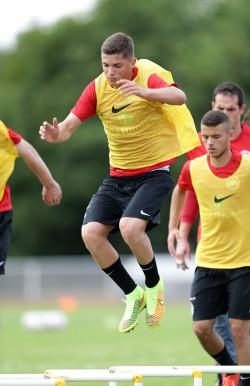 06.07.2014, Fussball, 1. BL, Trainingslager Eintracht Frankfurt auf Norderney - Tag 1