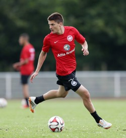 07.07.2014, Fussball, 1. BL, Trainingslager Eintracht Frankfurt auf Norderney - Tag 2