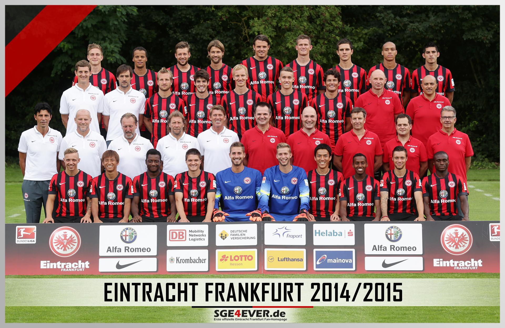 Eintracht Frankfurt Mannschaftsfoto Der Saison 20142015 Sge4ever