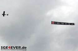 Banner über Mainz In Europa kennt euch keine Sau