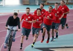 02.12.2014, Fussball, 1. BL, Laktattest Eintracht Frankfurt