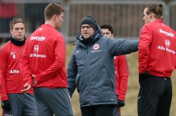 19.02.2015, Fussball, 1. BL, Training Eintracht Frankfurt