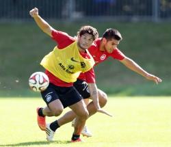 28.08.2014, Fussball, 1. BL, Training Eintracht Frankfurt