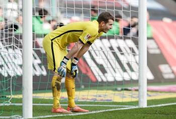 Bekommt trotz schwacher Leistung von Niko Kovac den Rücken gestärkt: Lukas Hradecky