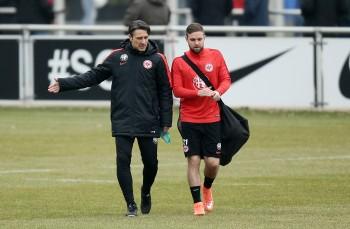 Trainer Niko Kovac (links) kann wieder voll auf Marc Stendera (rechts) bauen.