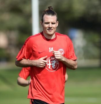 Kehrte am heutigen Donnerstag auf den Trainingsplatz zurück: Eintracht-Kapitän Alex Meier.