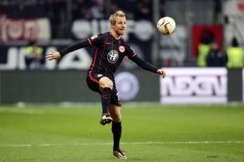 Zog sich gestern gegen den 1.FSV Mainz 05 eine Schädelprellung zu: Eintracht-Mittelfeldspieler Stefan Aigner.
