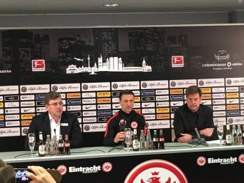 Axel Hellmann ging auf die Sicherheitsdebatte vor dem Spiel gegen Darmstadt ein.