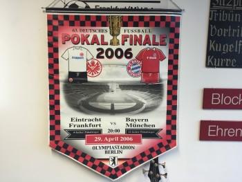 Die Erinnerungen an das Pokalfinale 2006 kann man im Eintracht Museum auffrischen.