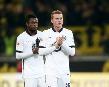 Bei der 1:4-Niederlage in Dortmund im Dezember 2015 wurde Rinderknecht in der 85. Minute eingewechselt. Es blieb sein einziger Bundesligaeinsatz für die SGE.