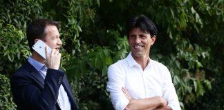 Auf einer Wellenlänge: Sportdirektor Hübner (re.) und Sportvorstand Bobic