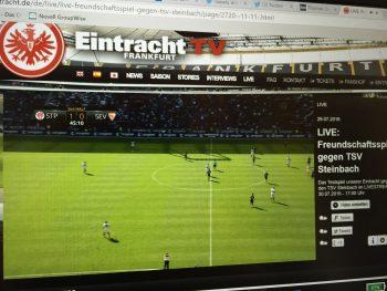 Gestern gab es kurz Irritationen um ein falsches Spiel auf Eintracht TV.