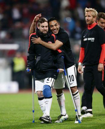Stendera verletzte sich beim Relegationsrückspiel in Nürnberg schwer am Knie.