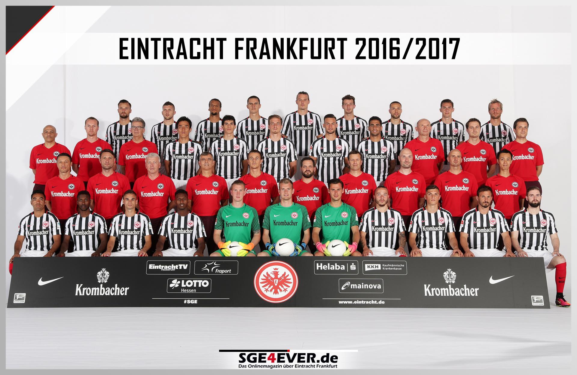 00 Spielergrafik Mannschaftsfoto 2016 17 Das Onlinemagazin Ber Eintracht Frankfurt