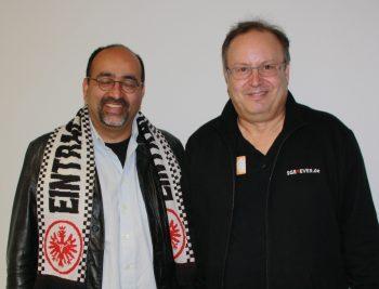 Omid Nouripour und SGE4EVER.de-Redakteur Ralf Mulot