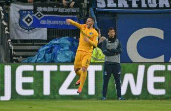 Wurde trotz seines Tores für eine Aktion während der Partie gegen den HSV kritisiert: Flügelflitzer Shani Tarashaj. (Foto: Imago/Sven Simon)