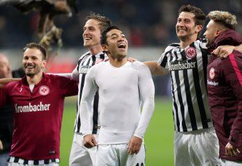 Kollektive Freude nach dem Sieg gegen Köln.