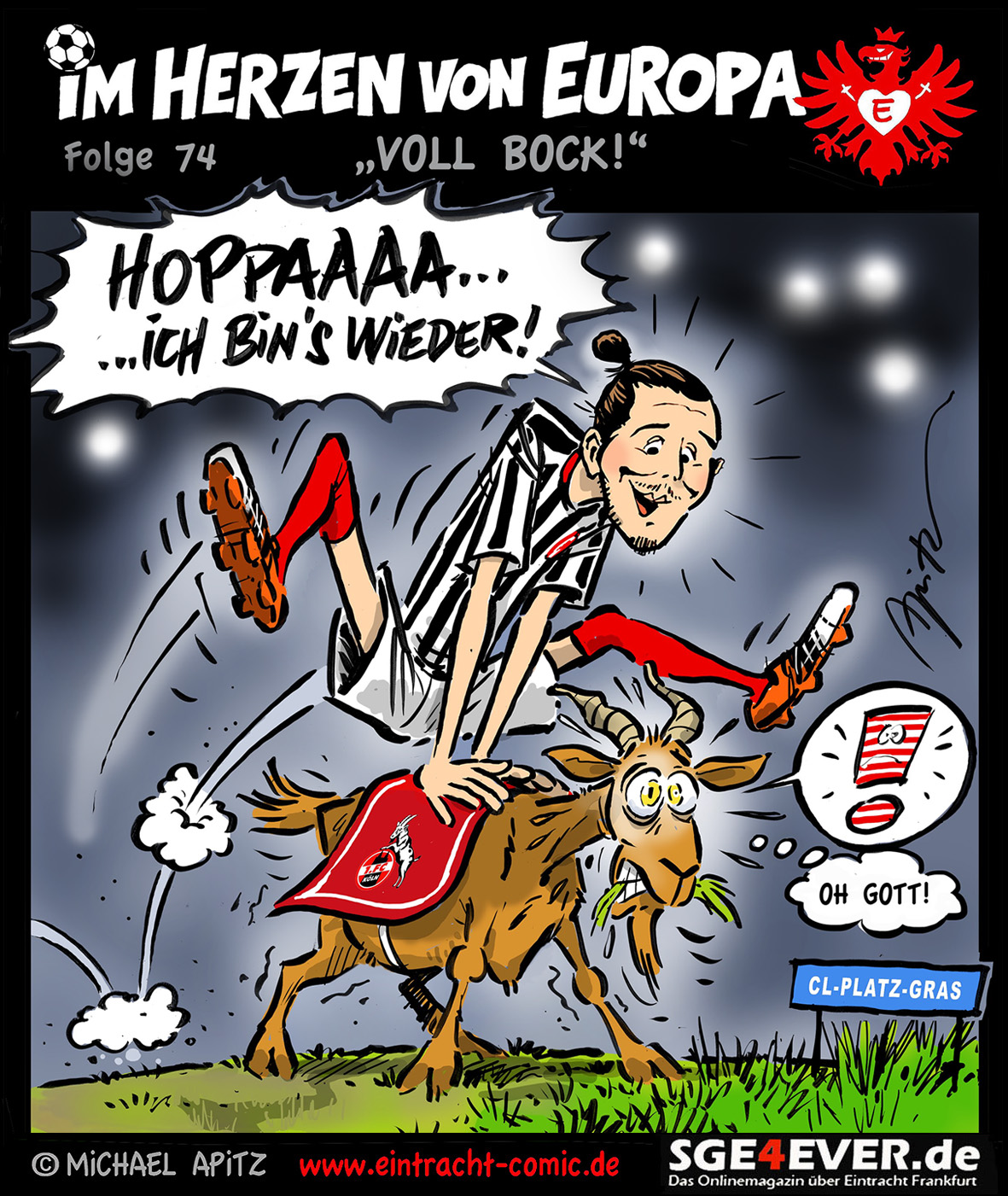 Im Herzen von Europa – Folge 74 Spieltagscomic