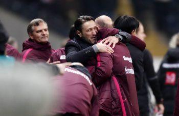 Niko Kovac freut sich darüber, dass seine Mannschaft ganz oben mit dabei ist.
