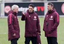 Armin Niko Kovac und seine Co-Trainer Armin Reutershahn und Robert Kovac arbeiten eng zusammen.