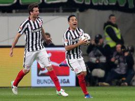 Abraham und Fabián jubeln über einen hochverdienten Punkt gegen Bremen.
