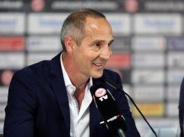 Adi Hütter zieht ein positives Fazit nach seiner ersten Hinrunde als Bundesligatrainer von Eintracht Frankfurt.
